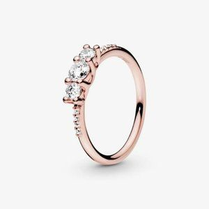 💍Pandora Clear Three-Stone Ring